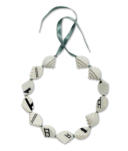 Necklace :   Porcelain ( white ),   � Steps � transfers, cord                              2011