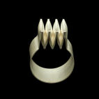 Ring: folded, modelled silversheet   2013/2015